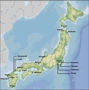 Japan map CIA fact book